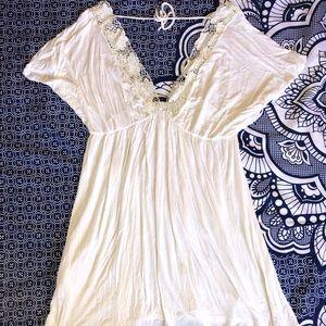 LUX white boho dress